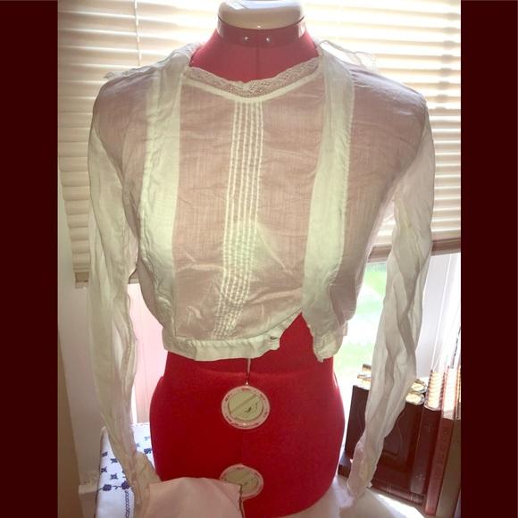 bf323c5e093182 Vintage Edwardian Victorian Shirtwaist Sheer White.  M 5af9bfe861ca10ced5064689